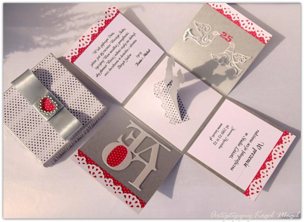 Zaproszenia Kategoria ślub I Jubileusz Obraz 25 Lecie Box