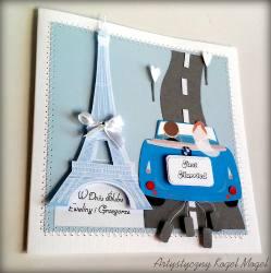 Kartka ślubna Paryż