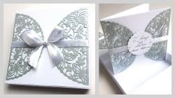 Pudełko z kartką na srebrne wesele