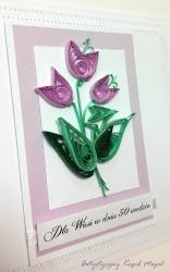 Filigranowe tulipany